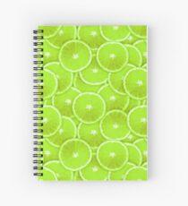 Lime Slice Digital Montage Spiral Notebook