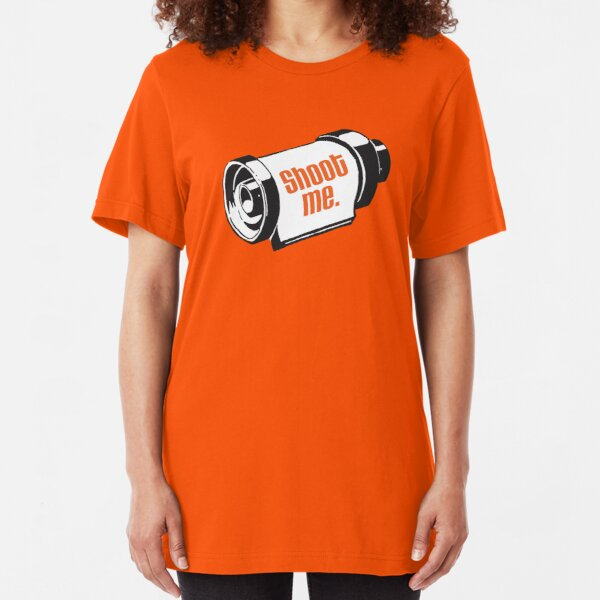 Shoot me 35mm film roll Slim Fit T-Shirt