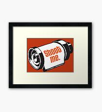 Shoot me 35mm film roll Framed Print