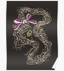 Edwardian Pearls, Bejewelled Ribbon & Padlock Jewellery  Poster