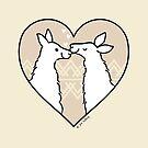Llama Love  by zoel