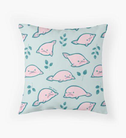 Pretty Pastel Blobfish  Throw Pillow