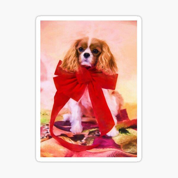 Christmas Joy Of A Cavalier King Charles Sticker