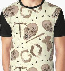 Zombies In Sepia Funny Horror Pattern Graphic T-Shirt