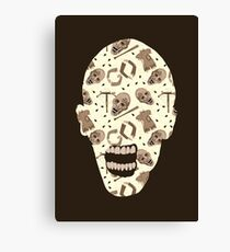 Zombies In Sepia Funny Horror Pattern Canvas Print