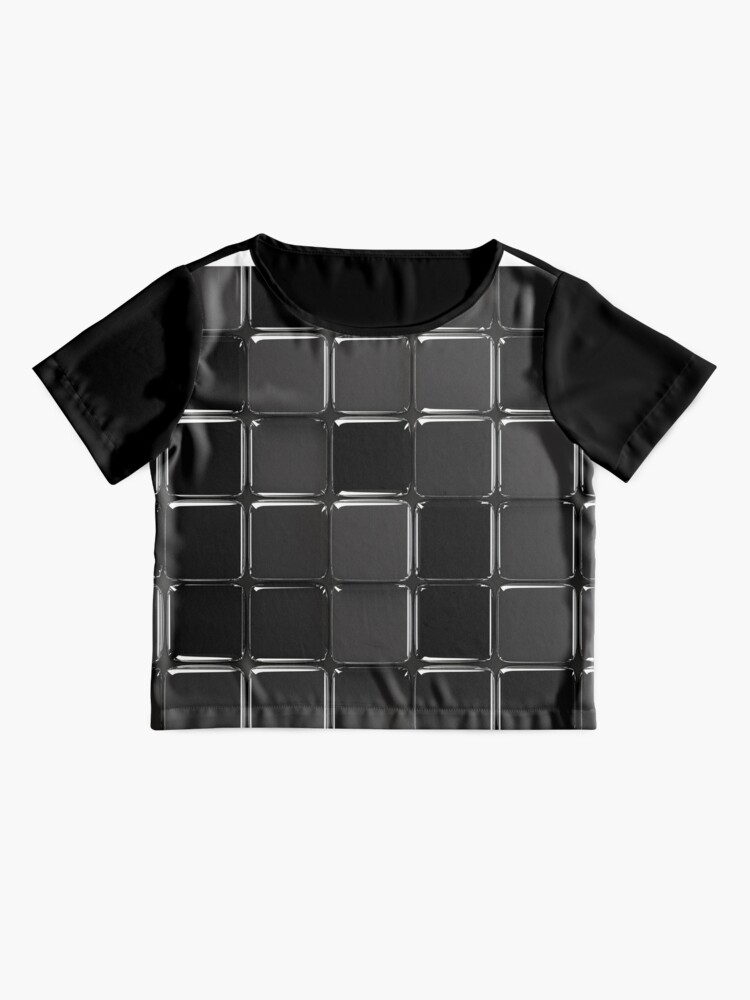 Vista alternativa de Blusa Mosaico negro brillante