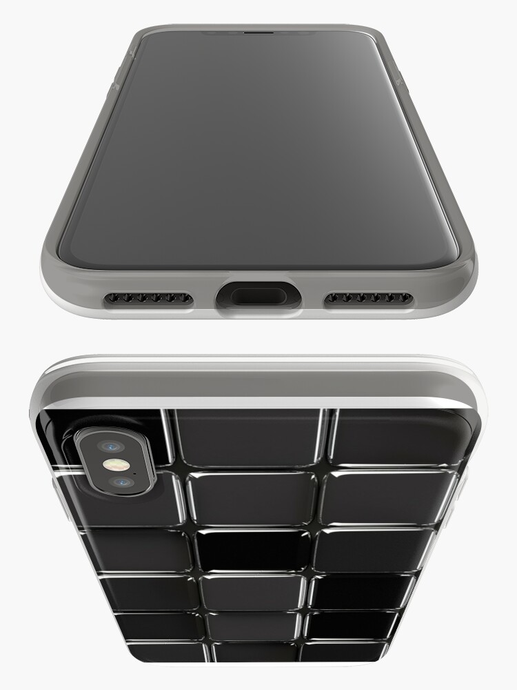 Vista alternativa de Funda y vinilo para iPhone Mosaico negro brillante