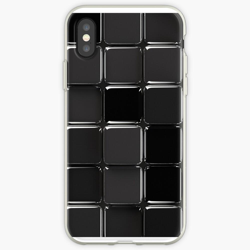 Mosaico negro brillante Funda y vinilo para iPhone