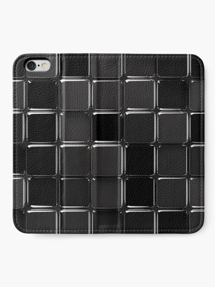 Vista alternativa de Fundas tarjetero para iPhone Mosaico negro brillante