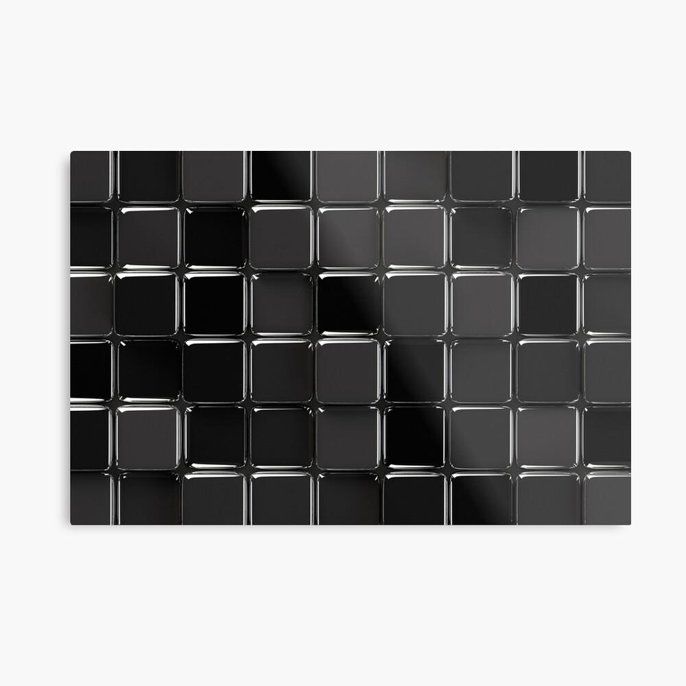 Mosaico negro brillante Lámina metálica