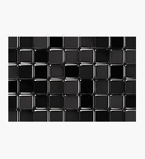 Black glossy mosaic Photographic Print