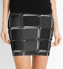 Black glossy mosaic Mini Skirt