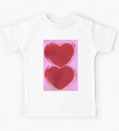 Double Hearts in Rouge Red on Pretty Pink Kids Clothes
