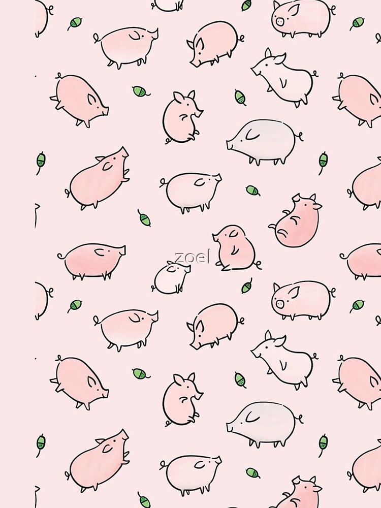 Pink Pigs with Green Acorns  by zoel