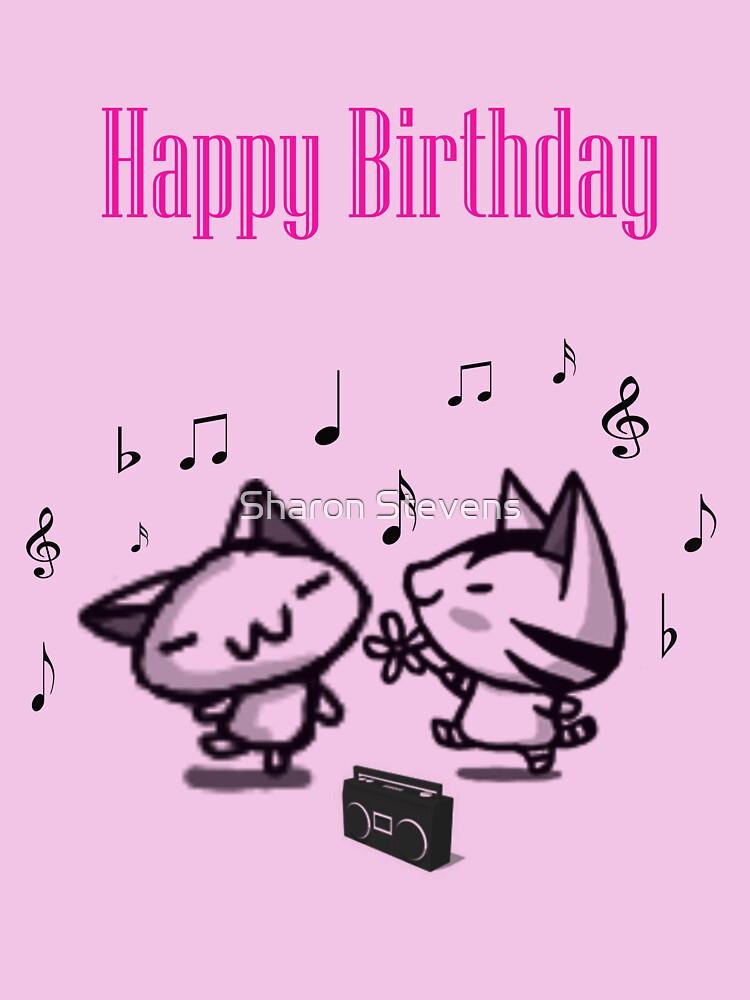 Dancing Birthday Card by Sharon Stevens