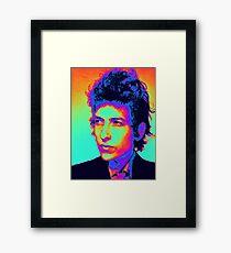 Bob Dylan Psychedelic Framed Print