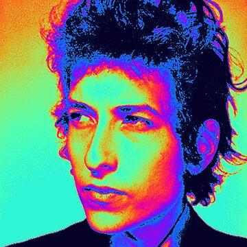 Bob Dylan Psychedelic by JonnyRoger