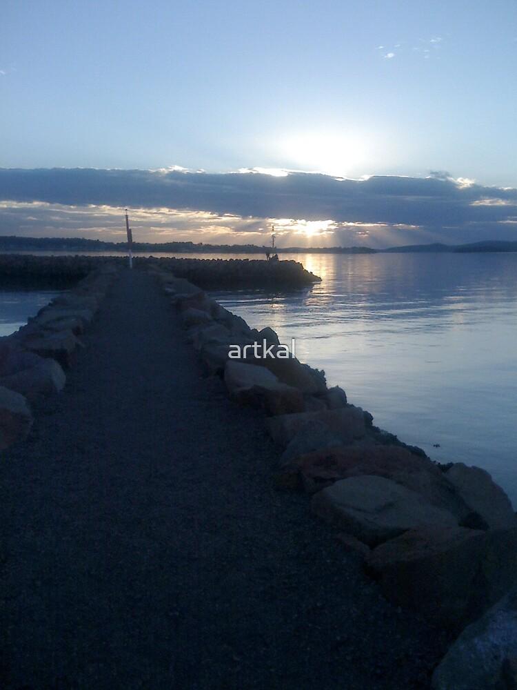 Sun setting... by artkal