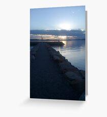 Sun setting... Greeting Card