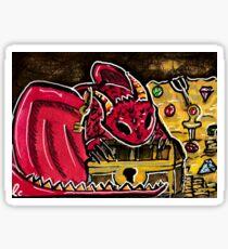 Smaug hoarder Sticker