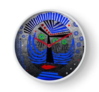 Tribal Whimsy 11 - Clock by Glen Allison