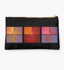 Triptych Purple Red Magenta - Colorful Rust Studio Pouch