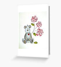 Valentine's Day Teddy  Greeting Card