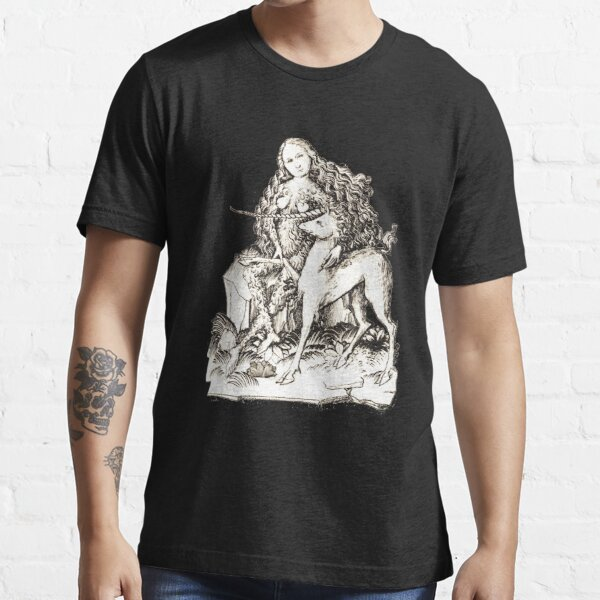 The wild girl and the Unicorn - (1467) HD Essential T-Shirt