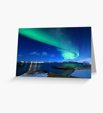 Northern Lights Norway Greeting Card
