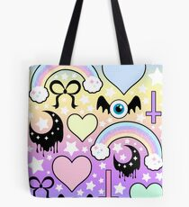 Pastel Goth Collage Tote Bag