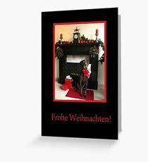 Frohe Weihnachten: German Shorthaired Pointer Greeting Card