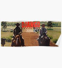 Django Unchained- Django and Dr. King Shultz on Horses Poster