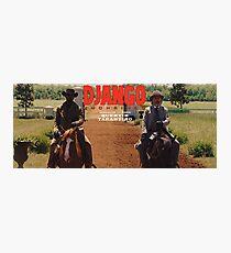 Lámina fotográfica Django Unchained- Django y el Dr. King Shultz en caballos