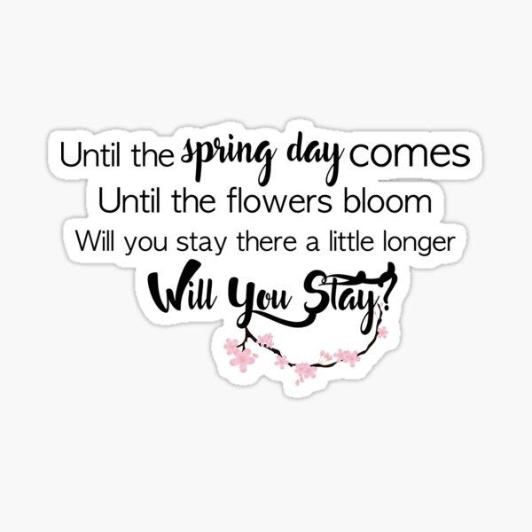 BTS- Día de primavera Pegatina