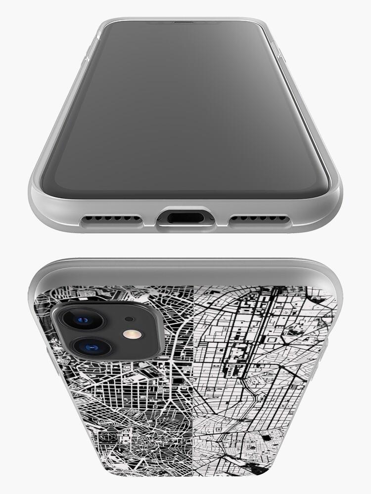 Alternative Ansicht von Madrid Stadtplan schwarz & weiß iPhone-Hülle & Cover