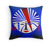 Tribal Whimsy 14 - Throw Pillow by Glen Allison