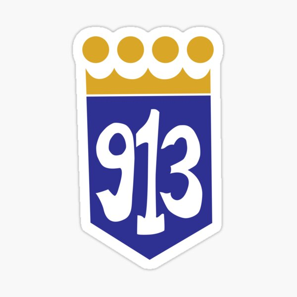 913 Area Code Kansas City Royals Sticker