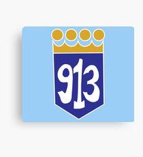913 Area Code Kansas City Royals Canvas Print