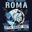 Non official logo of the Port of Roma, Ostia, Italy by romansart