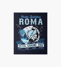 Non official logo of the Port of Roma, Ostia, Italy Art Board