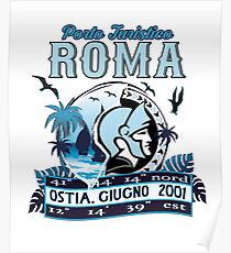 Non official logo of the Port of Roma, Ostia, Italy Poster
