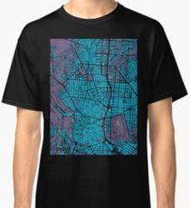 Madrid city map twilight Classic T-Shirt
