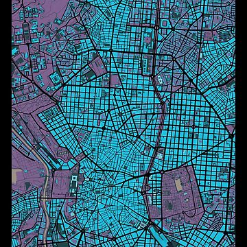 Madrid city map twilight by PlanosUrbanos