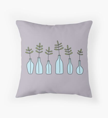 Glass Jars Throw Pillow
