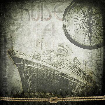 velho navio com bussola by serbandeira