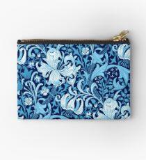 William Morris Iris and Lily, Indigo Blue Studio Pouch
