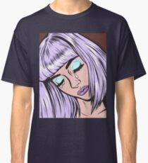 Lilac Bangs Crying Girl Classic T-Shirt