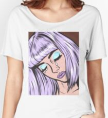 Lilac Bangs Crying Girl Women's Relaxed Fit T-Shirt