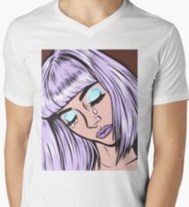Lilac Bangs Crying Girl T-Shirt