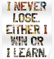 Sports Team Motto Quote Poster